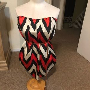 Tube top blouse with belt